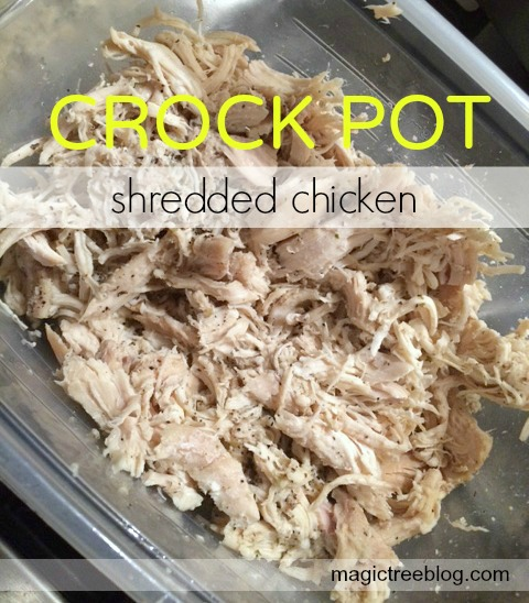 Crockpot shredded chicken final