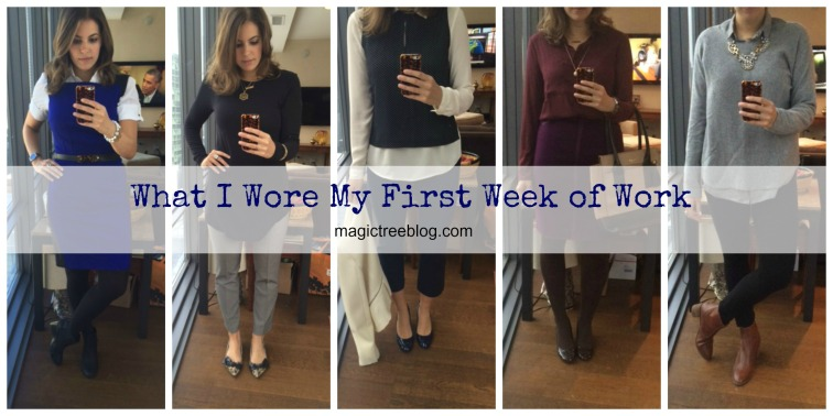 What I Wore to Work collage